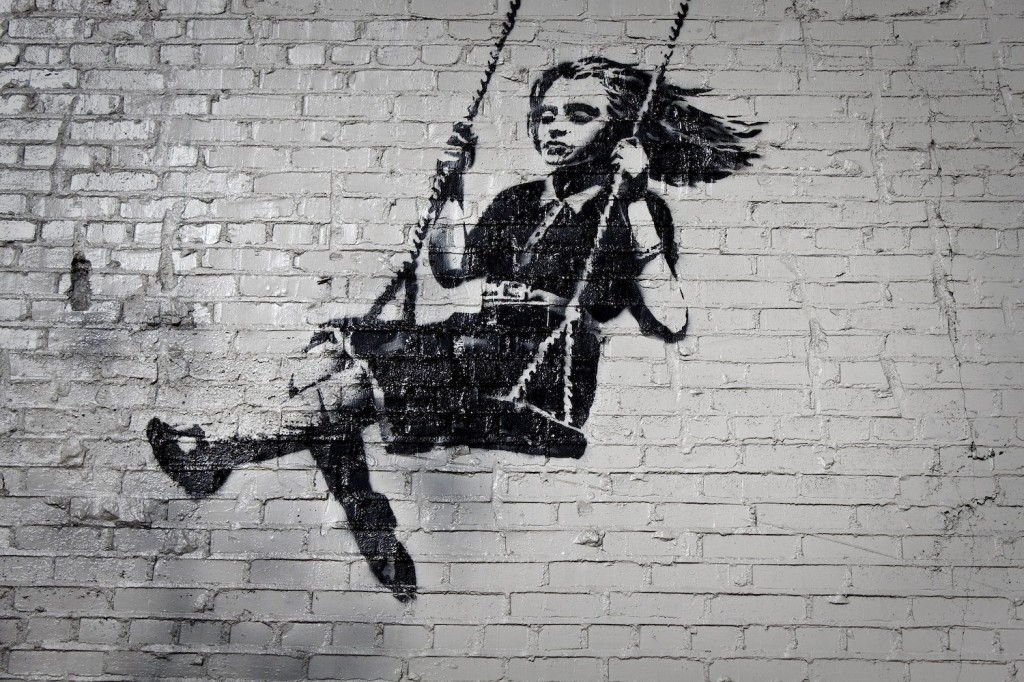 Banksy Street Art Piece In London
