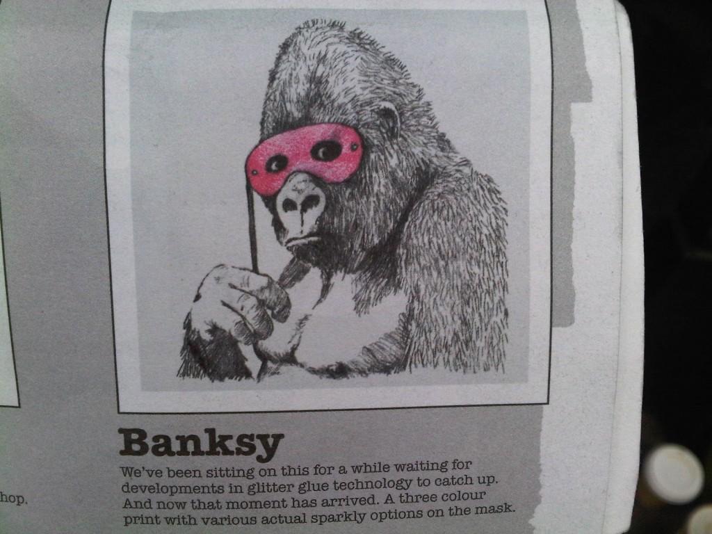Banksy Gorilla Print POW