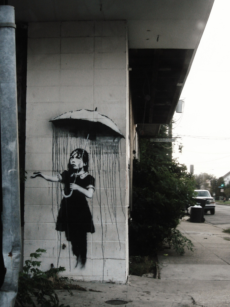 Banksy Nola New Orleans 2008