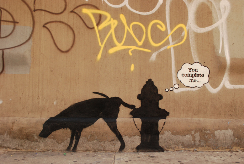 Banksy You COmplete Me Piece In New York City