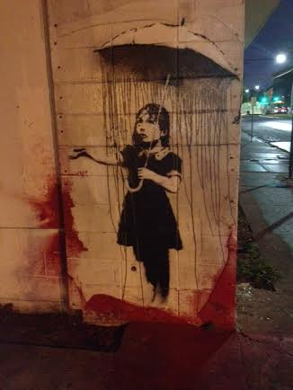 banksy nola defaced in new orleans by vandal