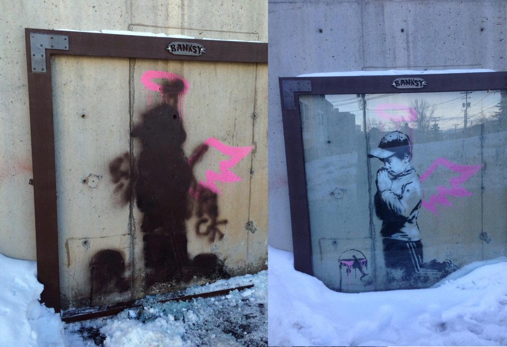 banksy park city vandalized